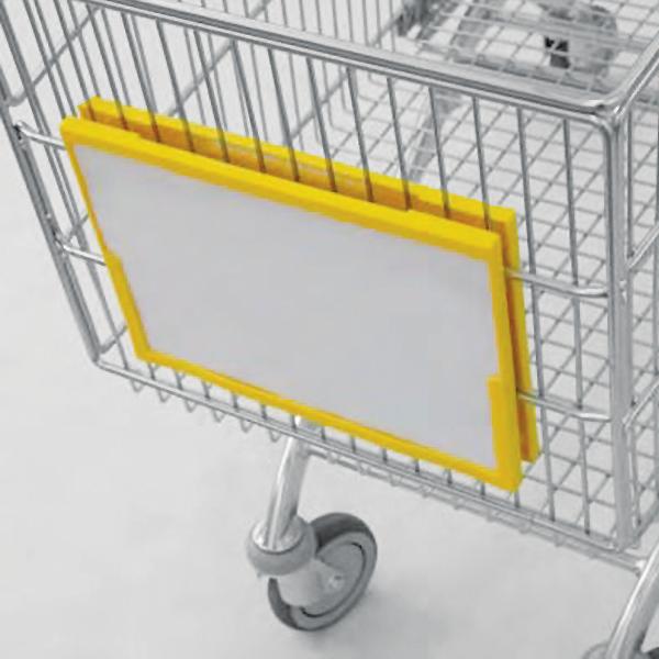 Accessori per carrelli - Cornice porta ADV/brand