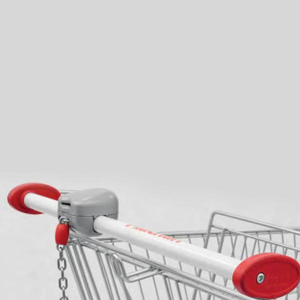 Accessori per carrelli - Maniglia tonda con portamonete Variloc