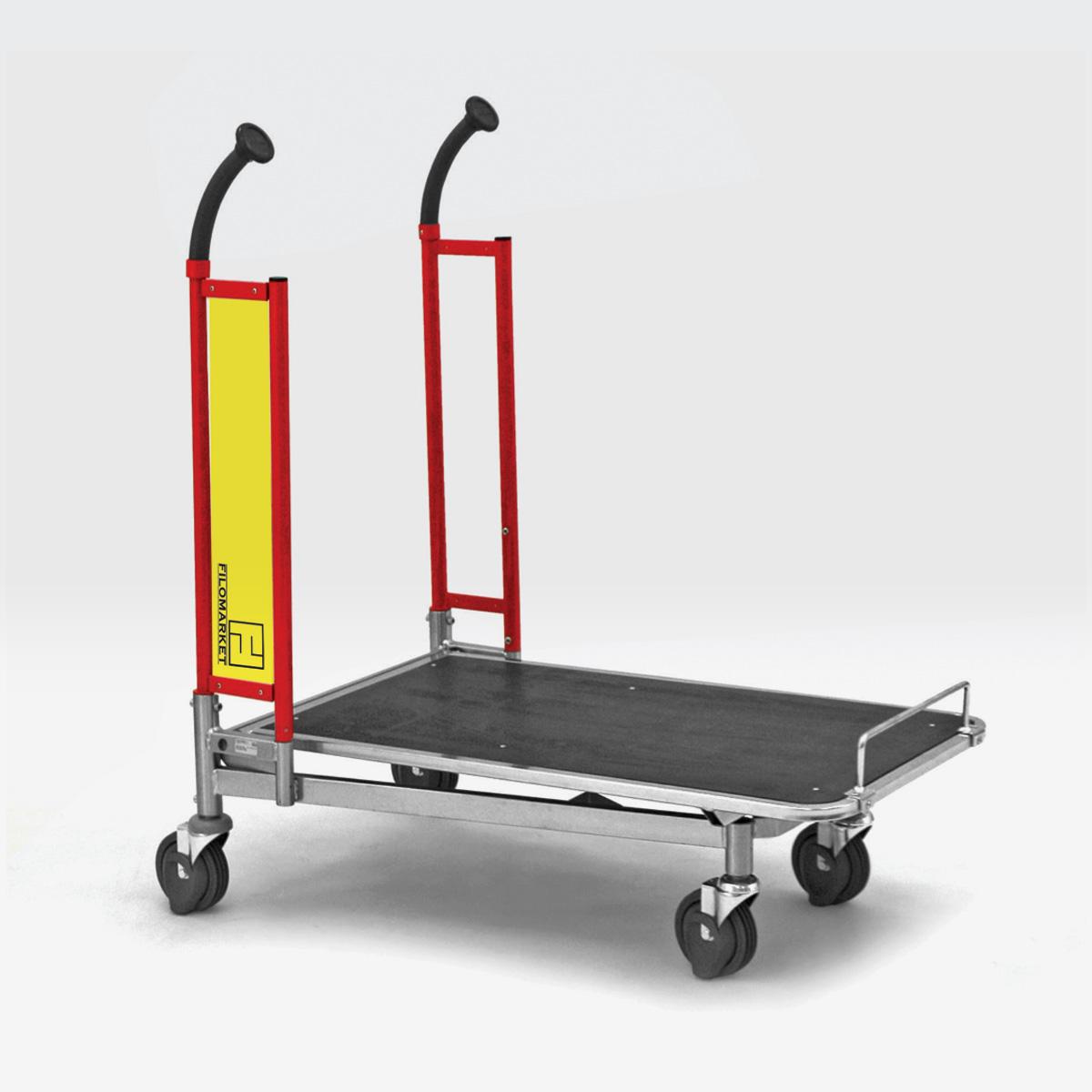 Carrello per magazzino con ruote CARRY 100 per tappeto mobile