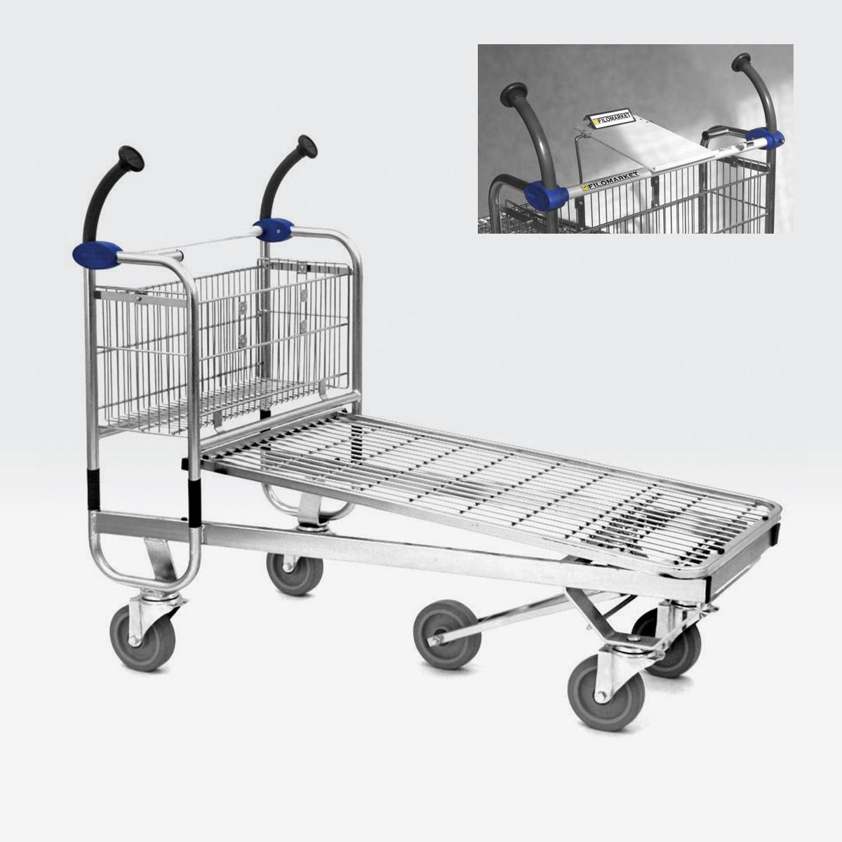 Carrello per magazzino con ruote CARRY 120M
