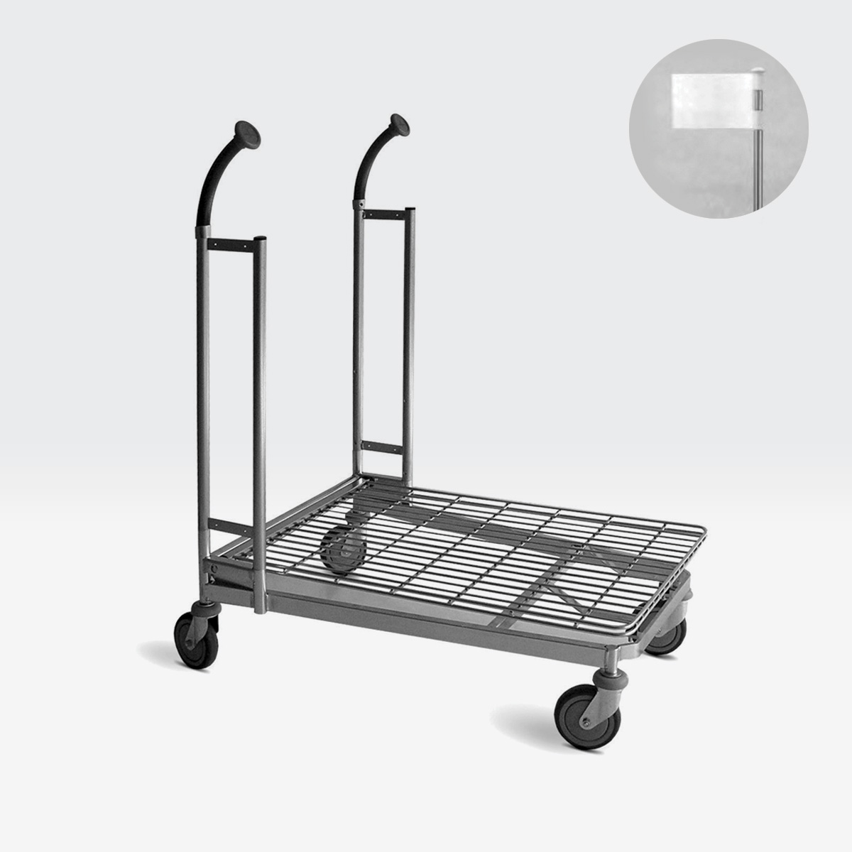 Carrello per magazzino con ruote CARRY 80