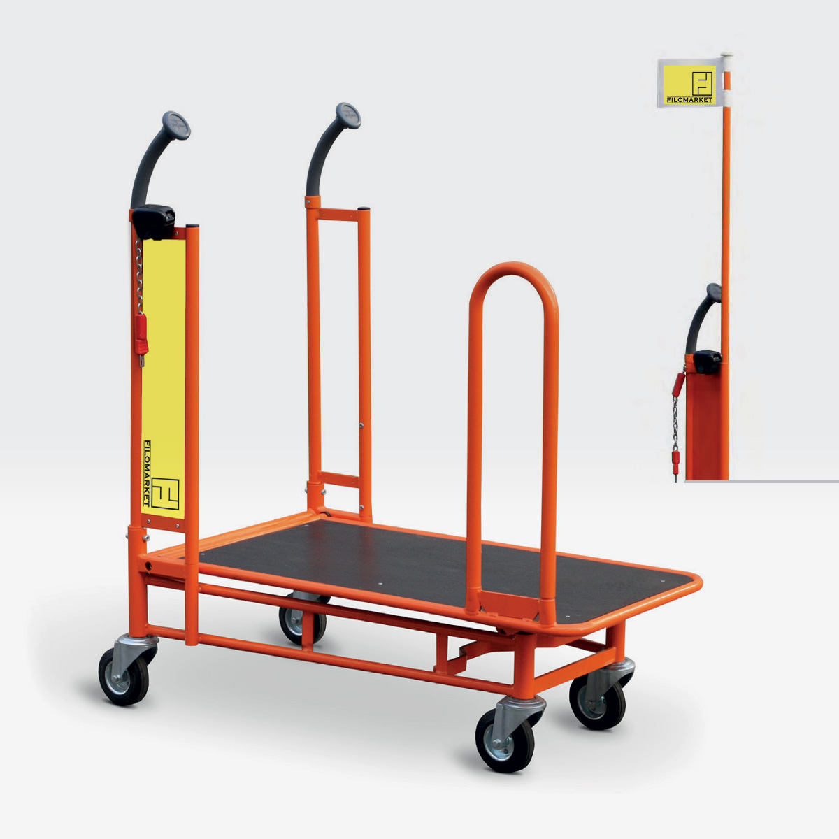 Carrello per magazzino con ruote CARRY 90
