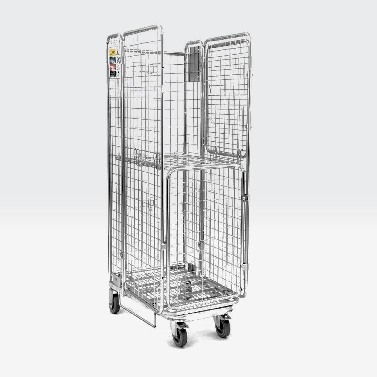 Carrello roll pieghevole e impilabile KLS-2 600x800 H.1800