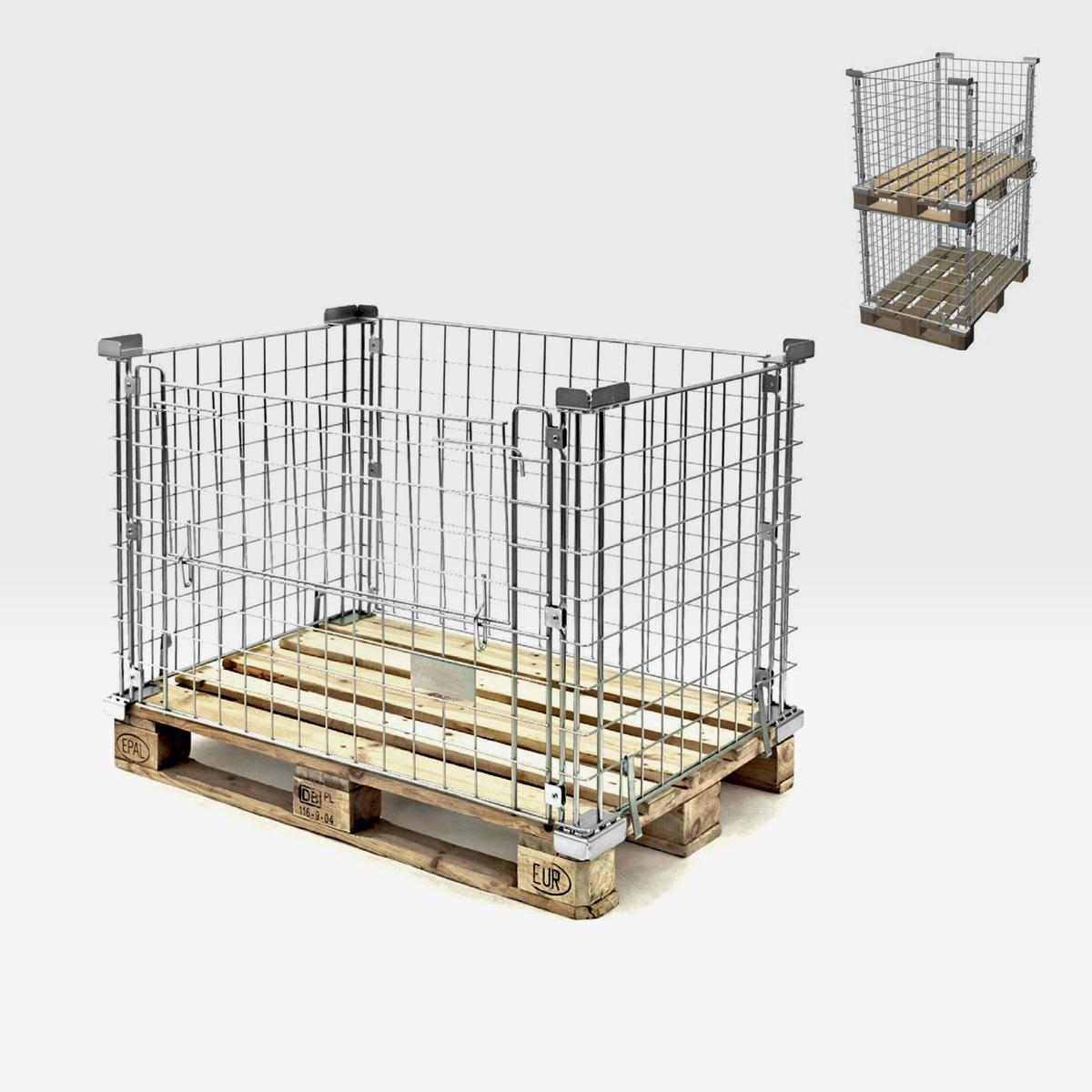 Cesto-box espositore su pallet 1200x800 light I